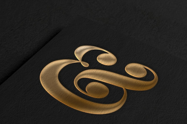 Elegant logo mockup on textured paper