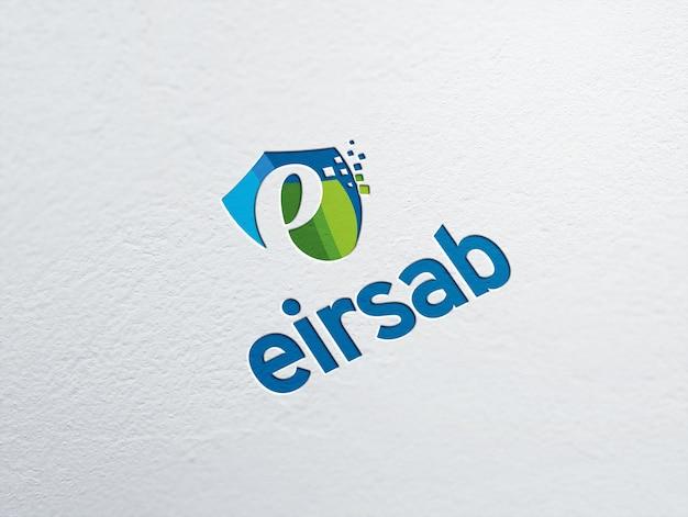 Elegant logo mockup on white paper