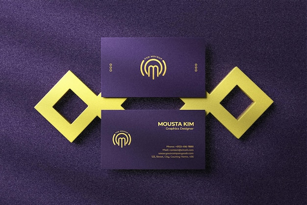 Elegant and luxury business card mockup