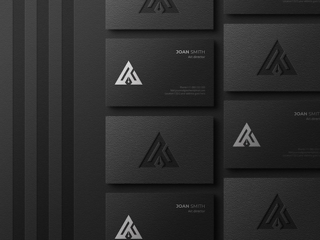 Elegant and luxury business card mockup
