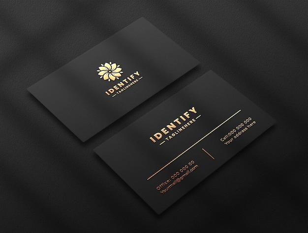 Elegant luxury logo mockup on dark business card