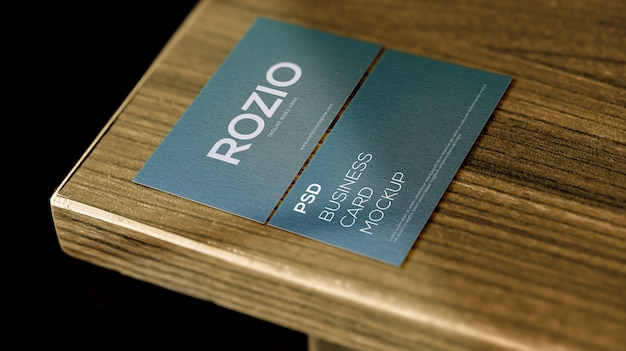 Elegant and minimal double sided business card mockup premium psd