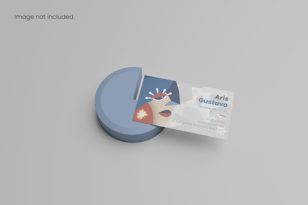 Elegant minimalist business card mockup for branding your design to clients