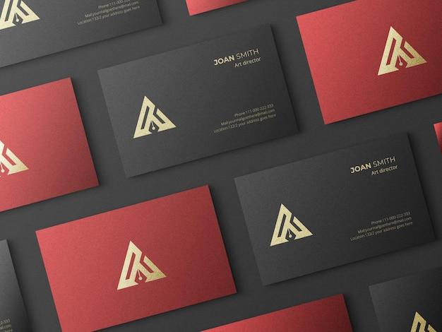 Elegant and minimalist business card mockup