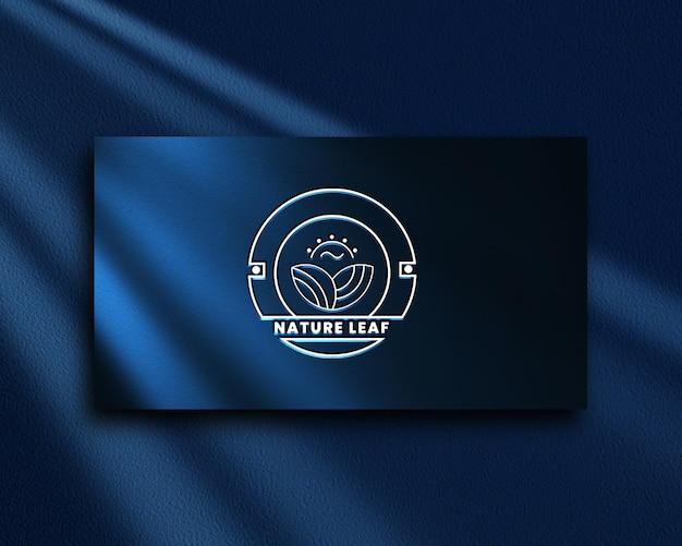 Элегантный минималистичный макет логотипа premium psd