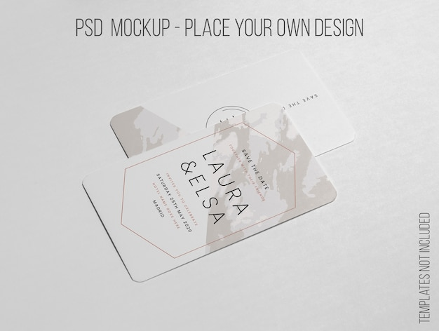 Elegant minimalistic layout of business card mockup