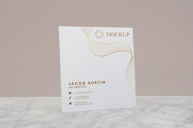 Elegant mock-up for corporate business card arrangement