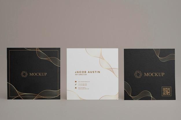 Elegant mock-up for corporate business card