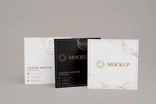 Elegante mock-up per biglietto da visita aziendale