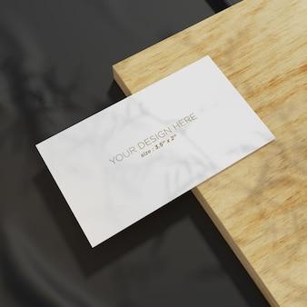 Elegant mockup business card template prespective view
