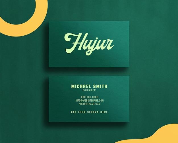 Elegant and modern business card mockup