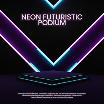 우아한 네온 연단 다채로운 조명 제품 디스플레이