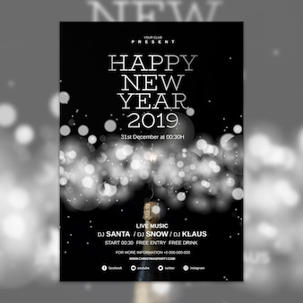 elegant new year cover template