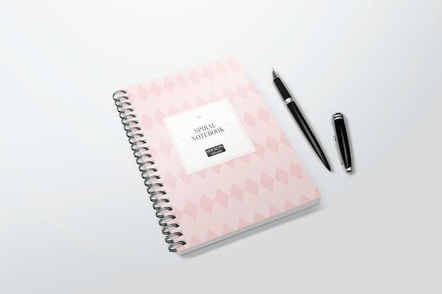 Elegant notebook mockup
