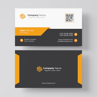 Elegant orange business card template