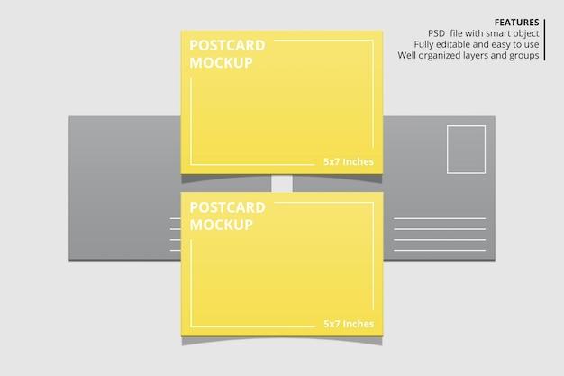 エレガントなポストカードモックアップデザイン