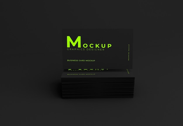 Elegant realistic business card mockup