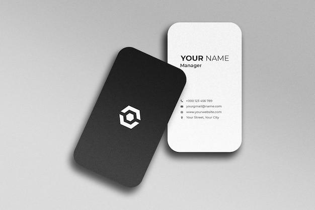 Elegant realistic business card mockup