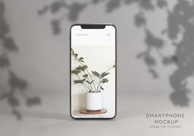 Elegant realistic smartphone mockup front view