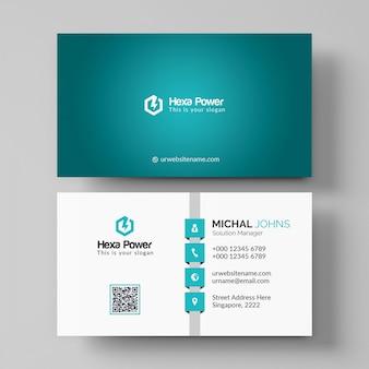 Elegant shiny business card mockup