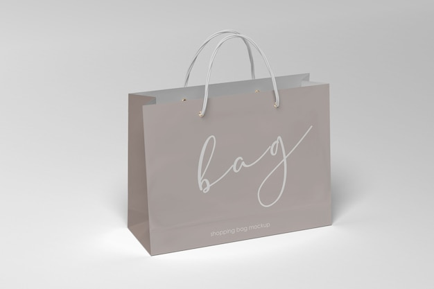 Elegant shopping paper bag mockup