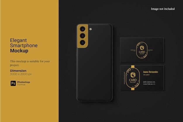Elegant smartphone mockup