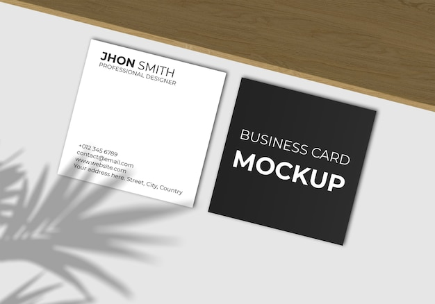 Элегантный квадратный макет визитки