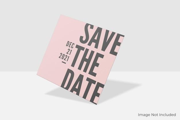 Элегантный квадратный дизайн макета приглашения