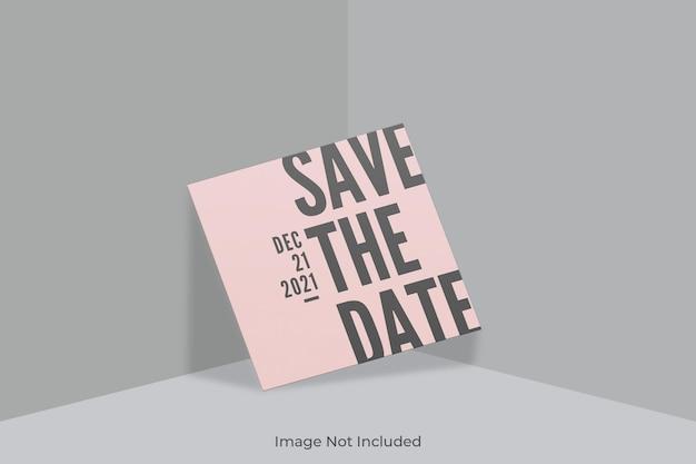 Элегантный квадратный макет приглашения с наложением теней