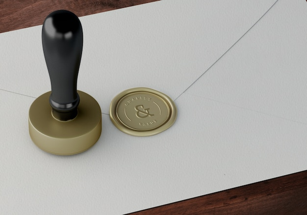 Elegant stamp or badge mockup