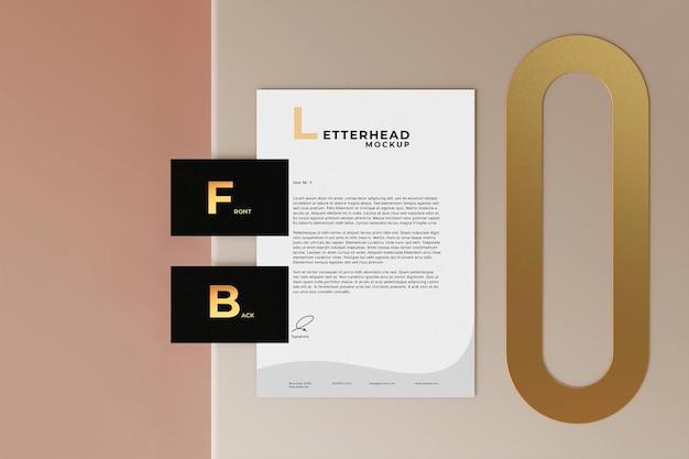 Elegant stationary mockup design