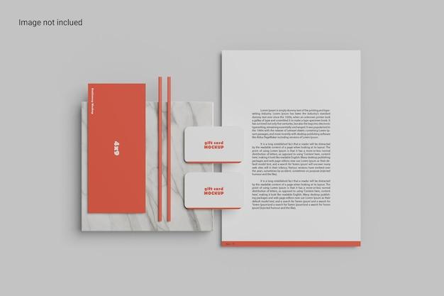 우아한 편지지 목업 디자인 프리미엄 PSD 파일