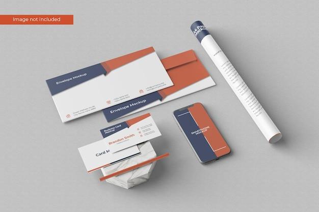 Elegant stationery mockup Premium Psd