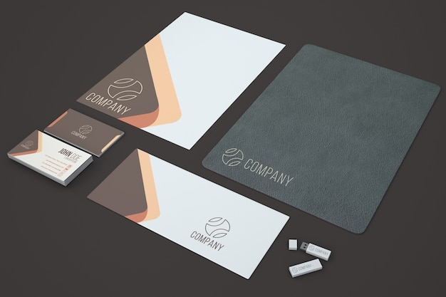 Elegant stationery showcase
