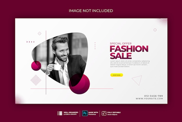 Elegant style web banner template sweatshirt