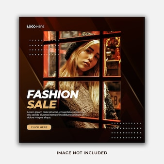 Elegant stylish fashion sale special offer social media post template