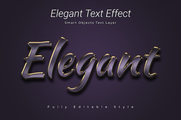 Elegant text effect