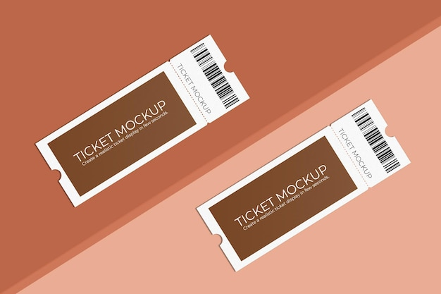 Elegant ticket mockup design