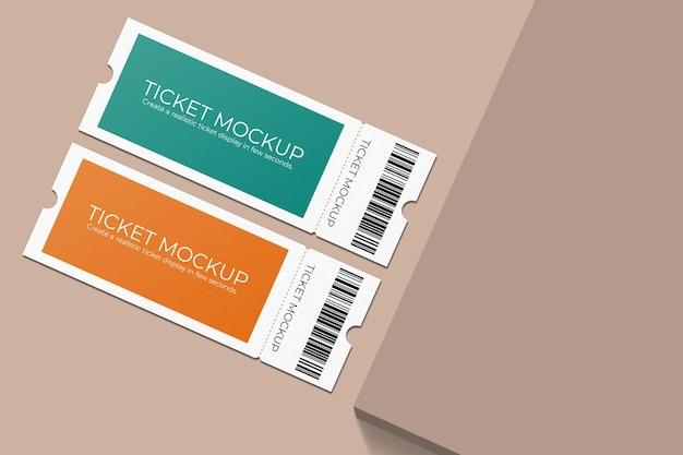우아한 티켓 모형 디자인