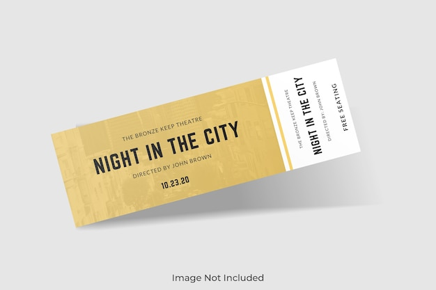 Elegant ticket mockup