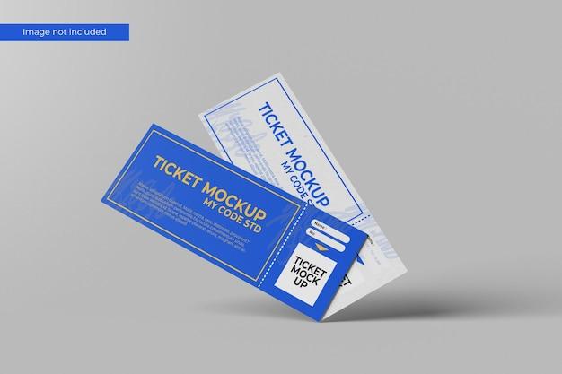 Elegant ticket mockup Premium Psd