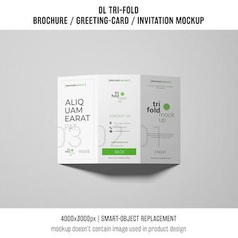 Elegant trifold brochure or invitation mockup