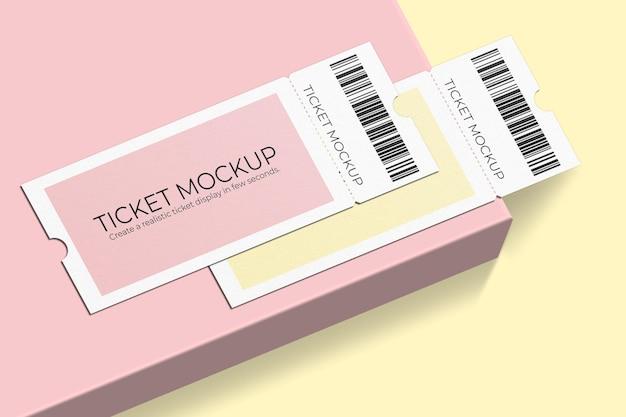 우아한 바우처 또는 티켓 모형 디자인