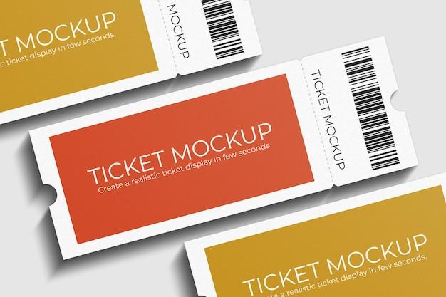 Elegant voucher or ticket mockup design Premium Psd