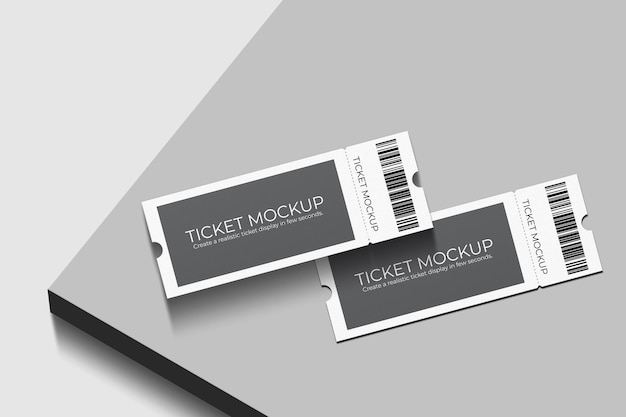 Elegant voucher or ticket mockup design