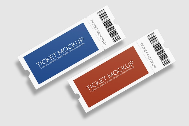 Elegant voucher or ticket mockup