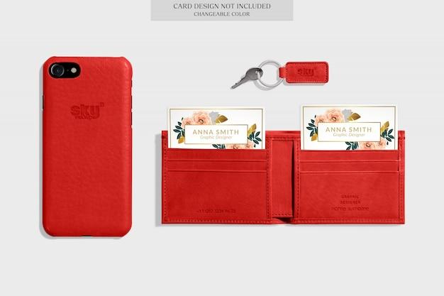 Elegant wallet mockup