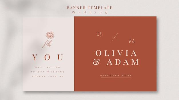 Elegant wedding banner template