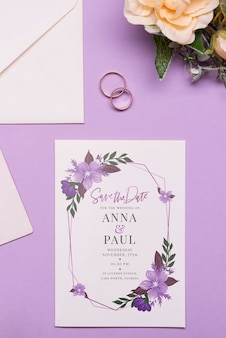 Elegant wedding invitation concept