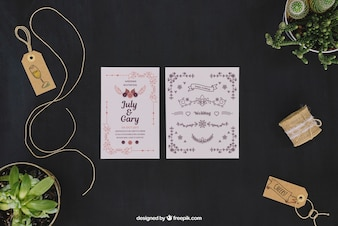 Elegant wedding mockup